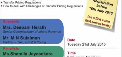 Seminar on Transfer Pricing Regulations by CA Sri Lanka