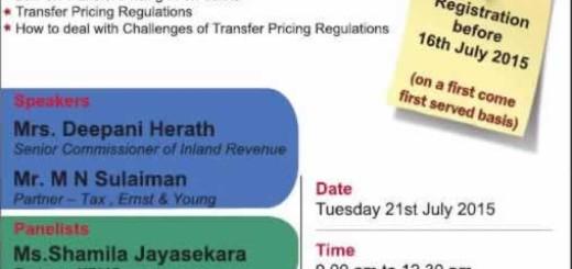 Seminar on Transfer Pricing Regulations by CA Sri Lanka