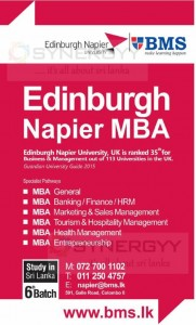 Edinburgh Napier MBA in Sri Lanka