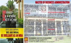 Postgraduate Institute of Management - Master of Business Administration (PIM MBA)