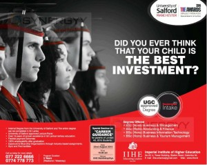 University of Salford Manchester Bachelor Degree Programme in Sri Lanka by IIHE