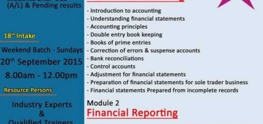 Aquinas College Diploma in Financial Accounting