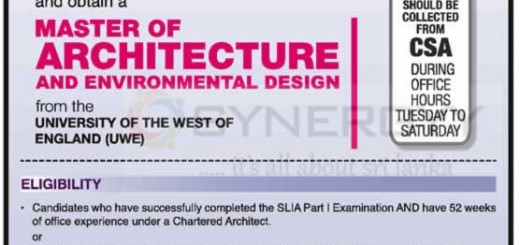 City School of Architecture Colombo – Architecture Courses in Sri Lanka