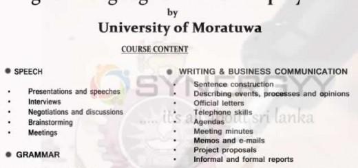 English Language Skills for Employment by University Of Moratuwa