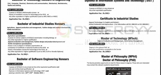 Open University of Sri Lanka Engineering Degree Programme – Applications Call now