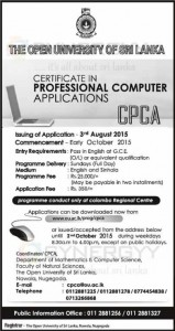 Open University of Sri Lanka IT Courses