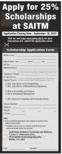 SAITM Scholarships
