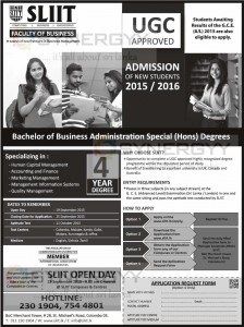 SLIIT-BBA Special (Hons) Degree – Application Calls Now