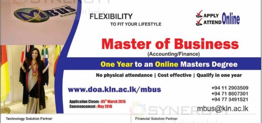 University of Kelaniya Online Master Degree Programme – Apply Now