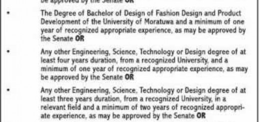 Masters or Postgraduate Diploma Course in Textile & Clothing Management by University of Moratuwa
