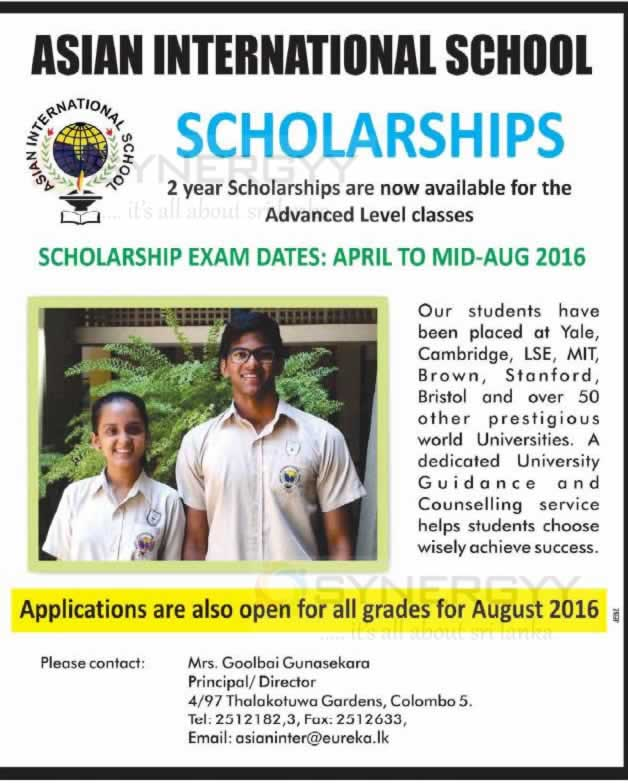 Asian scholarships for college