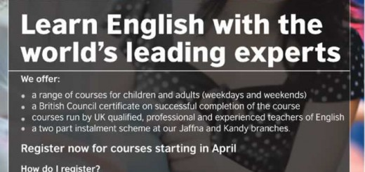 British Council – English Learning Class in Sri Lanka