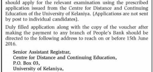 Bachelor of Arts (General) Degree Part III Examination (External) 2012 & 2013