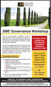 SME Governance Workshop – 9th June 2016