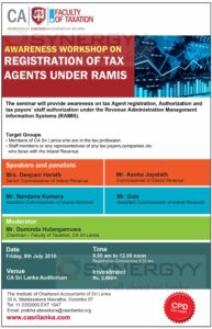 Awareness Workshop on Registration of Tax agents under Revenue Administration Management information Systems (RAMIS)
