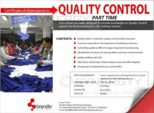 Certificate in Quality Control by Brandix College of Technology