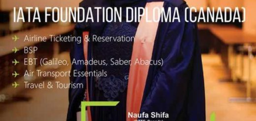 IATA Foundation Diploma from Louis Perston (Canda)