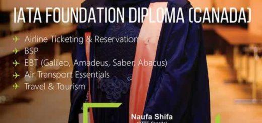 IATA Foundation Diploma from Louis Perston (Canda)