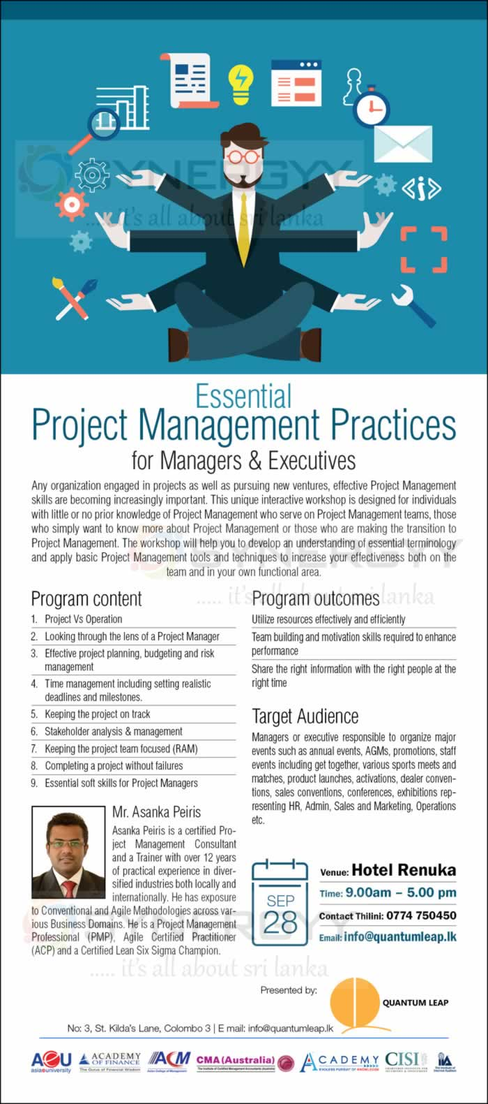 event management project management practices • understand basic management principles • understand how project management tenets events the creative cycle.