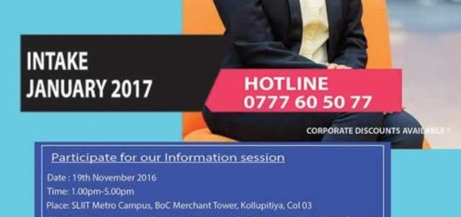 SLIIT Masters Degree Programme – Application calls now