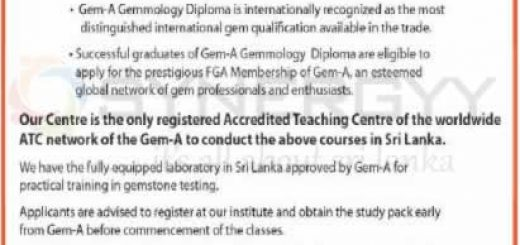 Foundation and Diploma Course in Gemmology (Gem)