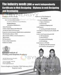 Certificate & Diploma in Web Design & Development