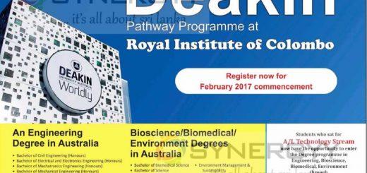 Deakin University Australia – Degree Programme in Sri Lanka with Royal Institute of Colombo
