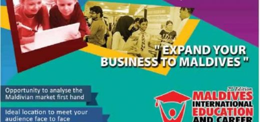 Maldives International Education and Career Expo 2017 – 30th Mar to 1st April 2017