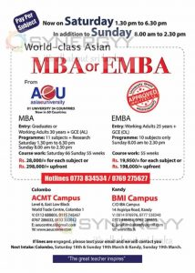Asia e University MBA & EMBA Applications calls now