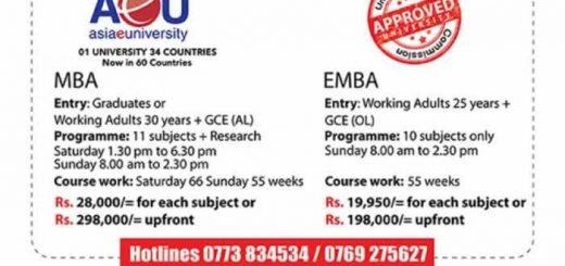 Asia e University MBA & EMBA Applications calls now