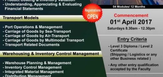 Diploma in Logistics by Aquinas College – Applications calls now