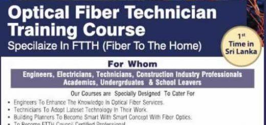 Optical Fiber Technician Training Course by SLNNS Optical Fiber Training Center