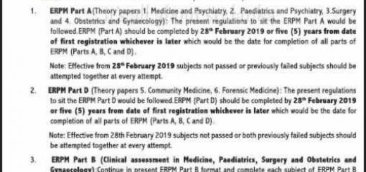The Examination for Registration to Practise Medicine in Sri Lanka (ERPM)