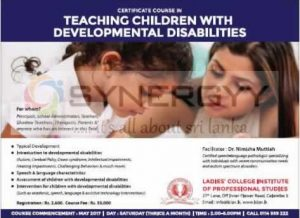 Certificate Course in Teaching Children with Developmental Disabilities