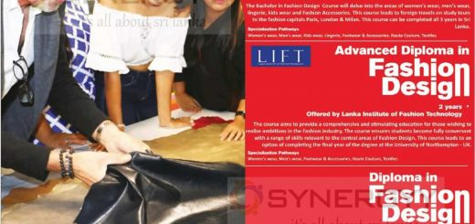 Diploma, Advance Diploma and Fashion Designing Degree Programme by Lanka Institute of Fashion Technology & Modart International