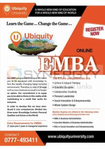 Ubiquity University EMBA (online) – Register now